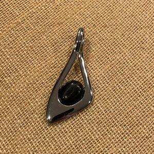 Lia Sophia Pendant with Black Stone